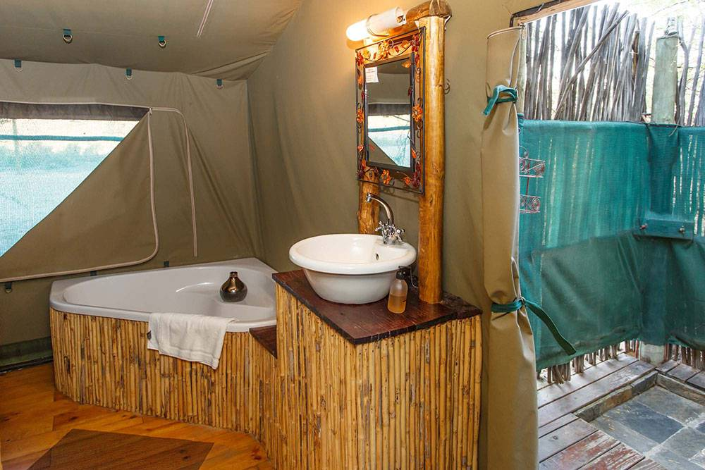 Luxury tented accommodation at Chandelier