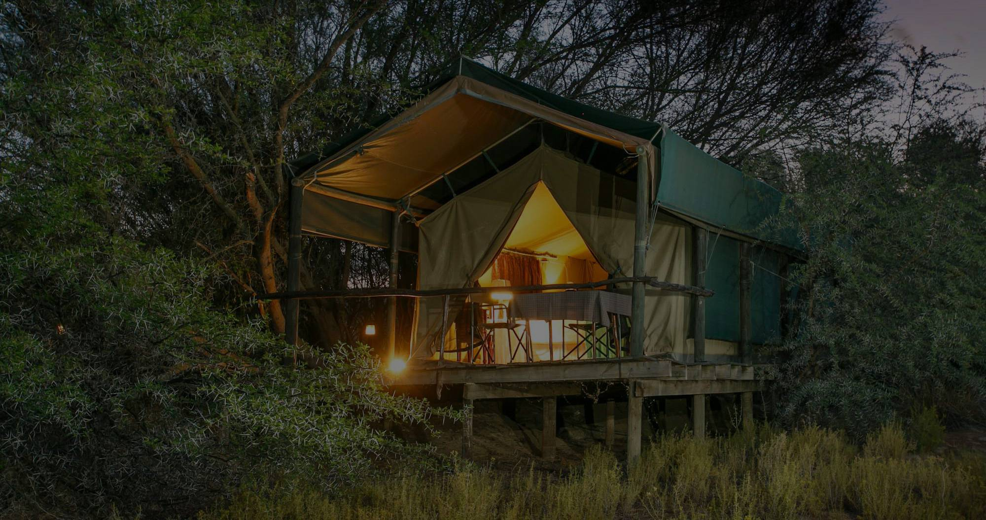 Luxury tent chalet at Chandelier Game Lodge