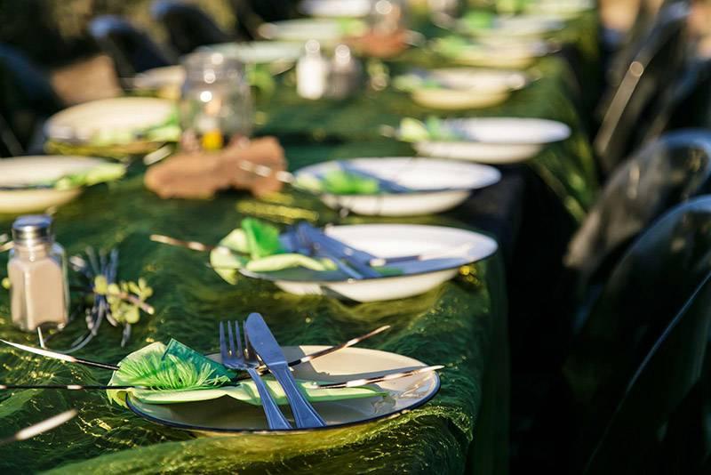 Sundowner dinner at Chandelier Game Lodge