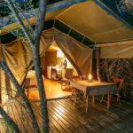 Luxury tent accommodation